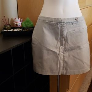 Express Tan/Nude Stretch Mini Skirt Size 5/6